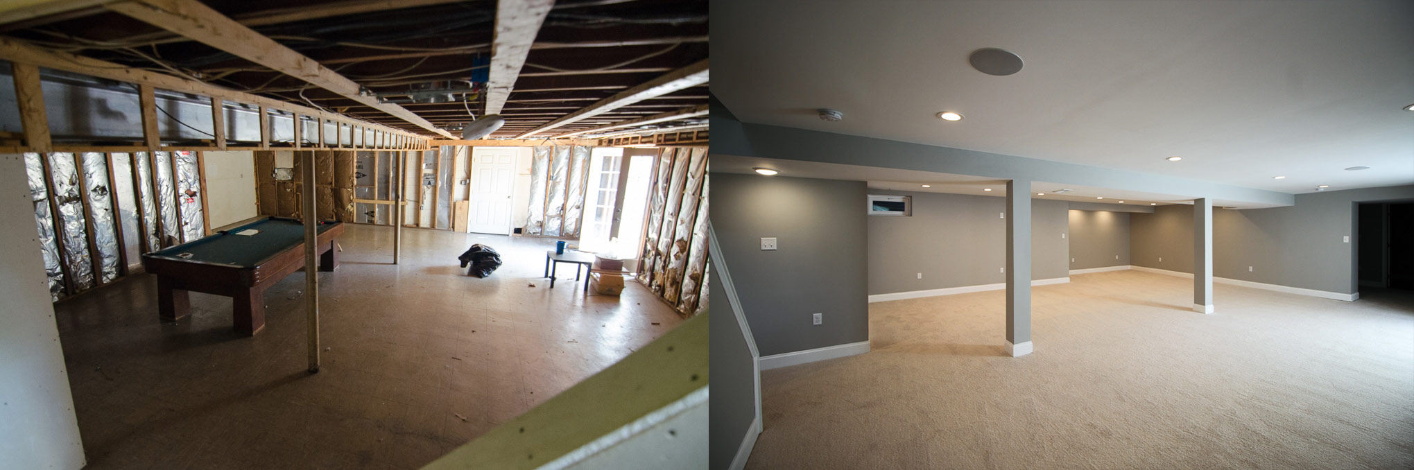Fully finished basement in Joppa road Baltimore Maryland flip