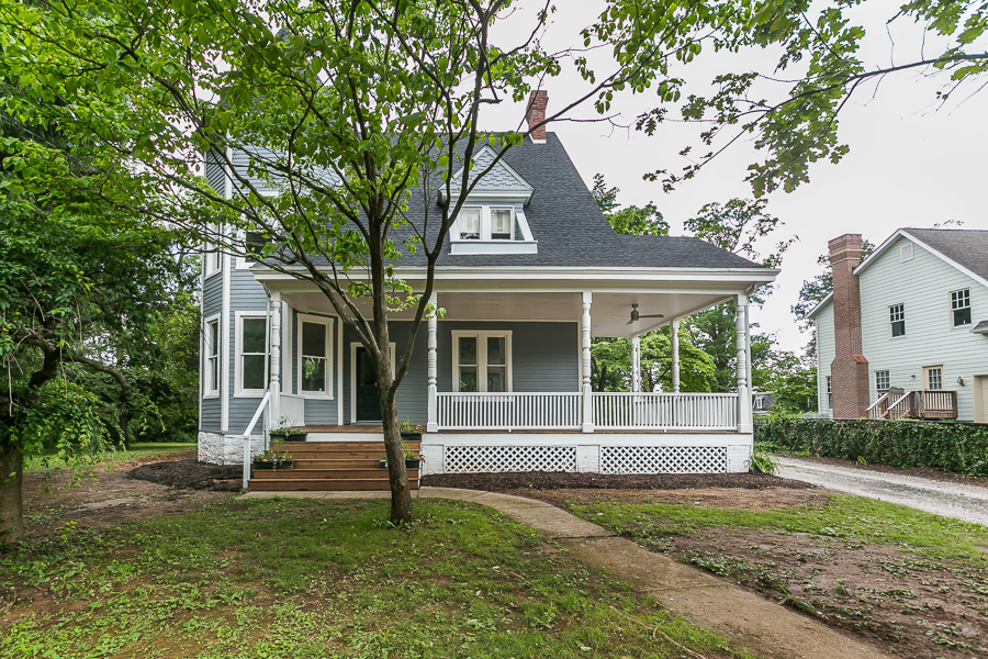 Lutherville home renovation with porch