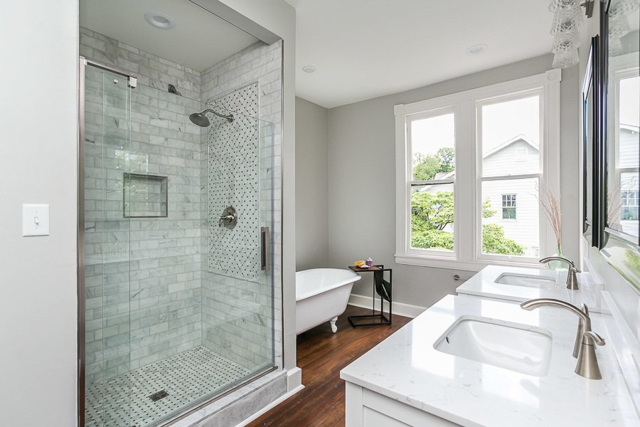 Bathroom renovation in historic Lutherville home