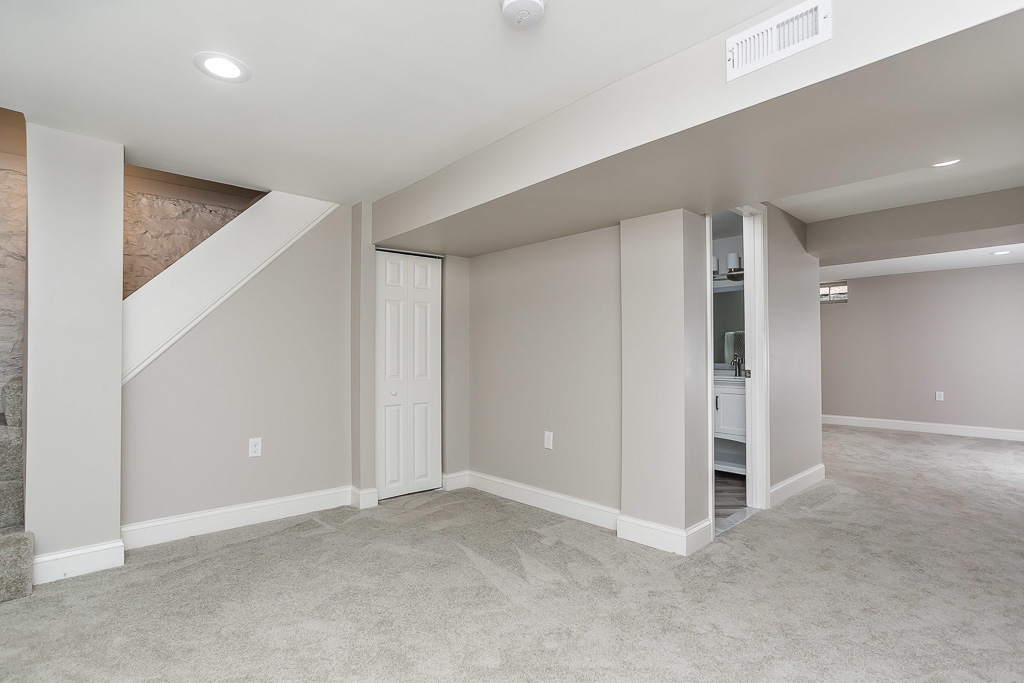 Finished basement in restored timonium home