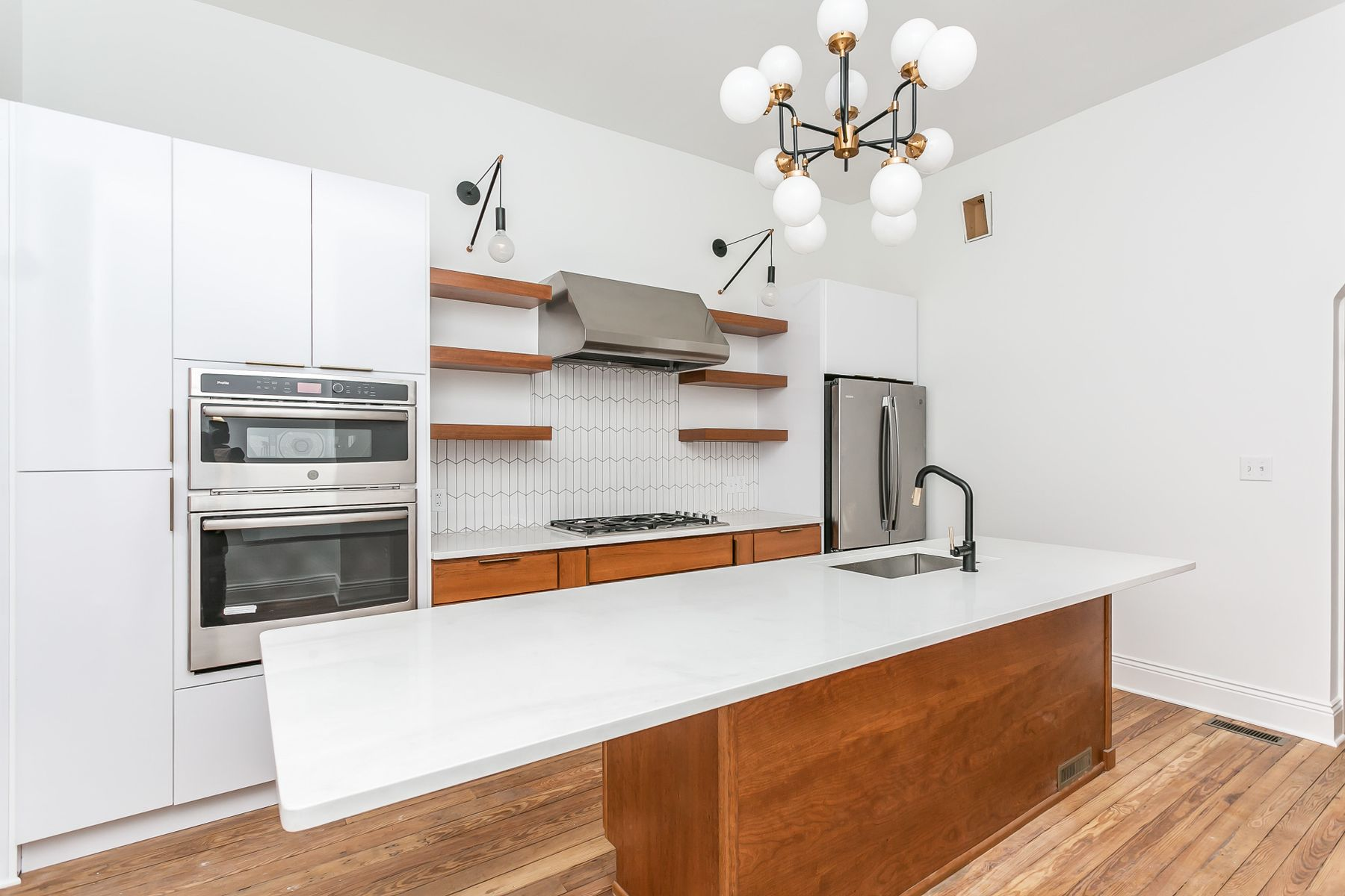 Kitchen in new town house in charles village