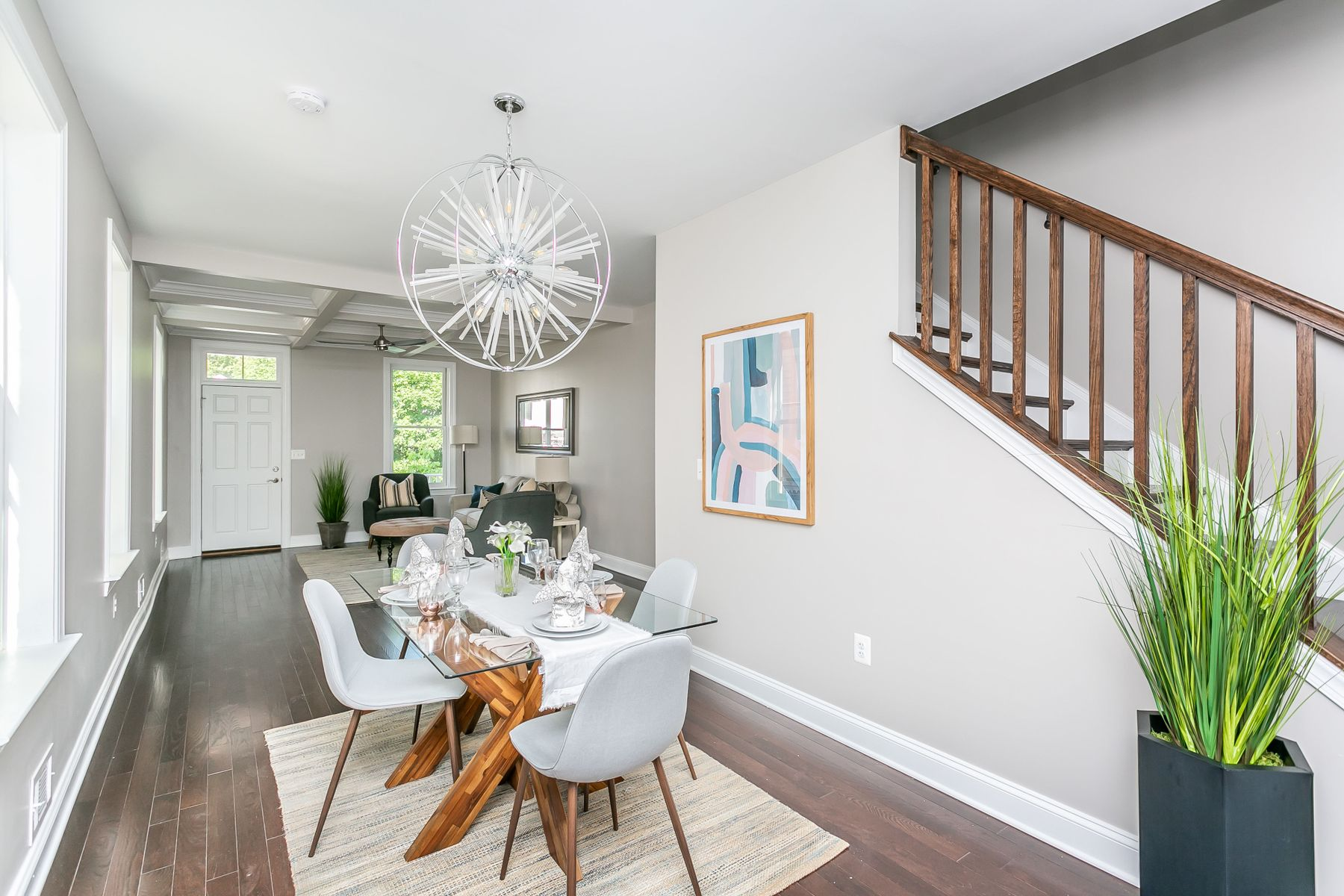 Stairs and dining room set